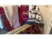 Selection of Ecuadorian shawls, throws and wall hangings. sold as a bundle or seperately