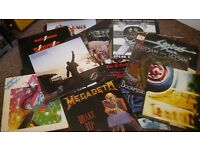 Heavy Metal/Thrash Hard rock vinyl job lot