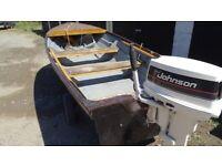 fishing boat bonwitco 4.5m, 30hp johnson, outboard ,trailer.