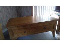 Wood Coffee Table/TV Unit.