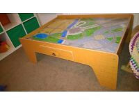 ELC railway / train play table with track and trains