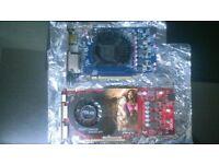 job lot Sapphire vapor-x hd 5750 1gb gddr5 hdmi + asus hd 4850 1gb gddr3 graphics card bundle