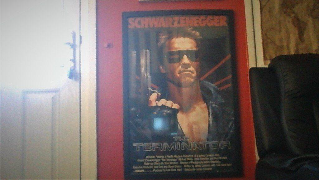 framed terminator poster for sale large