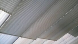 Pleated Conservatory Roof Blinds, Pale Grey.
