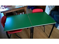 SCHOOL TABLES AND CHAIRS - SUIT AGES 6-10 - IDEAL HOME DESKS - HEAVY DUTY - STACKABLE