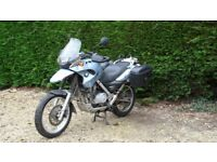 BMW F650 GS with Panniers