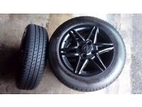 """4x100 14"""" Alloys with New Tyres 175/65/14"""
