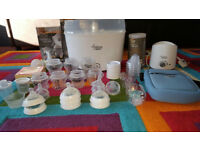Tommee Tippee Bundle 50x items Steriliser,Bottle warmer, bottles,teats