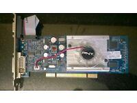 rare PCI pny 8400gs 512mb ddr2 ( gh84w0spue49p+ote ) vga dvi with cooling fan