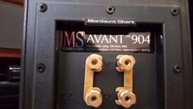 Mordaunt Short Avant MS-904 SPEAKERS HI-FI CHOICE BEST BUY BLACK 100 WATTS