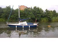 pandora 22 bilge keel yacht
