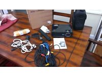 """BenQ projector + 100"""" screen + case + ceiling mount + all cables + free Samsung home 5.1 theatre"""