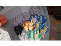 10pr of high quality work gloves size 10