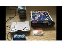 PlayStation 1 + GAMES + Dance Mat + Memory card