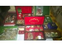 A LARGE SELECTION OF COSTUME JEWELLERY....NEW AND OLD....EXCELLENT CONDITION....