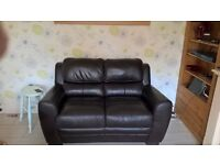 Leather 2 seater sofa, great condition