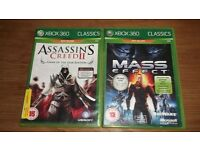 2 XBOX 360 GAMES THAT CAN ALSO PLAY ON XBOX ONE!!! MASS EFFECT AND ASSASSINS CREED 2