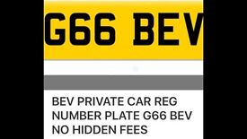 Private number plate G66 BEV no hidden fees