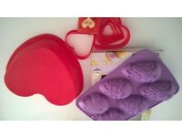 Valentine's Day AND EASTER SILICONE MOULDS AND CUTTERS HEART SHAPE