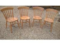 4 x wooden kitchen chairs