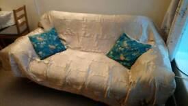 Leather 3 seats sofa