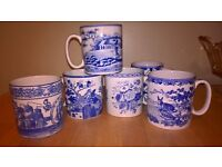 'Spode' 'Blue room' collection mugs