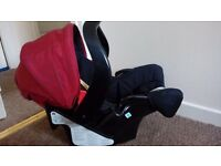 Graco car seat with adapter for graco evo