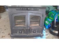 Sherborne multi fuel stove with coal bucket