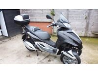 piaggio trike scooter yourban LT 300 use on car license must see vespa style mp3 fuoco metropolise