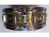Vintage Rogers snare drum brass dynasonic