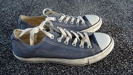 CONVERSE ALL STAR SIZE 6 GREY/BLUE