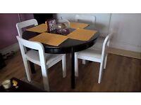 IKEA table BJURSTA-extendable-black gloss