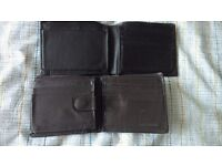 Leather Wallets and other leather items- please view