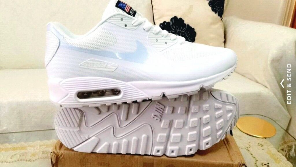 58cad5734a7 ... real nike air max 90 hyperfuse white independance day all sizes inc  delivery paypal x yeezy