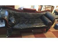 Mahogany chaise long - needs renovation £25