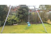 TP triple swing set with 2 person sky-ride swing