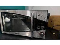 Like New DeLonghi Microwave Black & Stainless Steel 20L