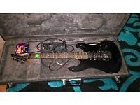 Yamaha electric guitar with hard body case