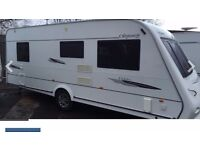 Elddis Odyssey 544 2008 4Berth caravan excellent condition inside and out with fixed bed