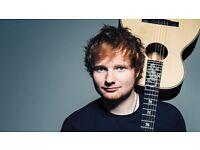 2 BLOCK 1 ED Sheeran tickets Birmingham Barclaycard arena Saturday 29th April