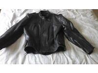 Old leather Bike jacket - black unlabelled