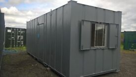 PORTABLE CABIN - 24ft OFFICE OR CANTEEN - EXCELLENT CONDITION - SHIPPING CONTAINER
