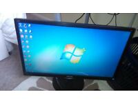 "PHILIPS 243V LED HD MONITOR, 24"" Inch DISPLAY, FULLY WORKING CONDITION, CRYSTAL CLEAR PICTURE."