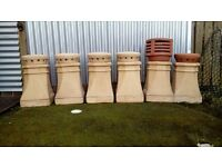 3 Chimney pots with closers