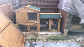 Rabbit or guine pig outdoor hutch