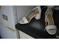 white block heeled sandals 4