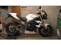 Triumph Street Triple, lots of extras, excellent condition, low mileage