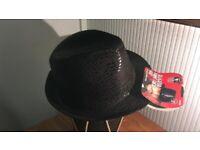 Alligator Trilby Hat - Black