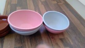 UNTOUCHED NEVER BEEN USED SALAD BOWLS FANTASTIC QUALITY BARGAIN!!!!!!!!!