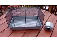 WIRE HAMSTER CAGE & HOUSE FOR SALE